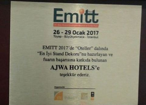 AJWA HOTEL En iyi Fuar Standı Ödülü 'EMITT 2017'